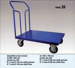 carrelli a quattro ruote per magazzino